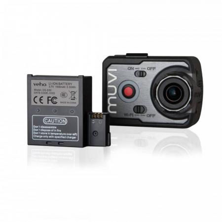 Baterie de rezerva pentru Camera Muvi K-Series handsfree Baterie de rezerva pentru Camera Muvi K-Series handsfree Baterie de rezerva pentru camera actiune Veho Muvi K-Serie [1]