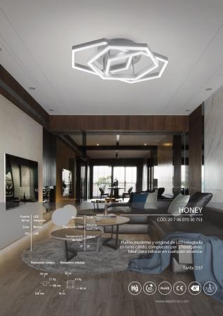 Kelektron Lampa LED HONEY IP20 SUP. 50W 30K W. [3]