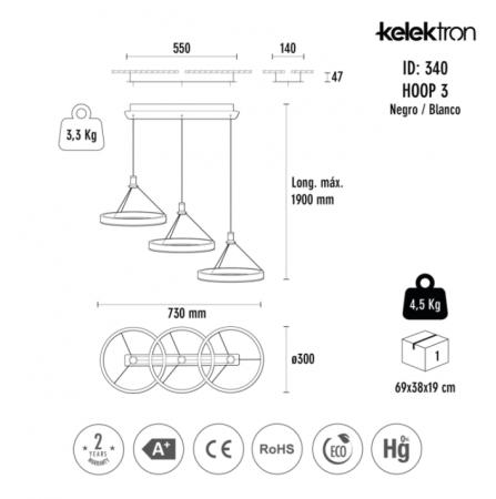 Lampa LED HOOP 3 IP20 COLG. 54W 30K [5]