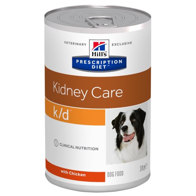 Hill's PD k/d Kidney Care hrana pentru caini cu probleme renale, conserva 370 g 0