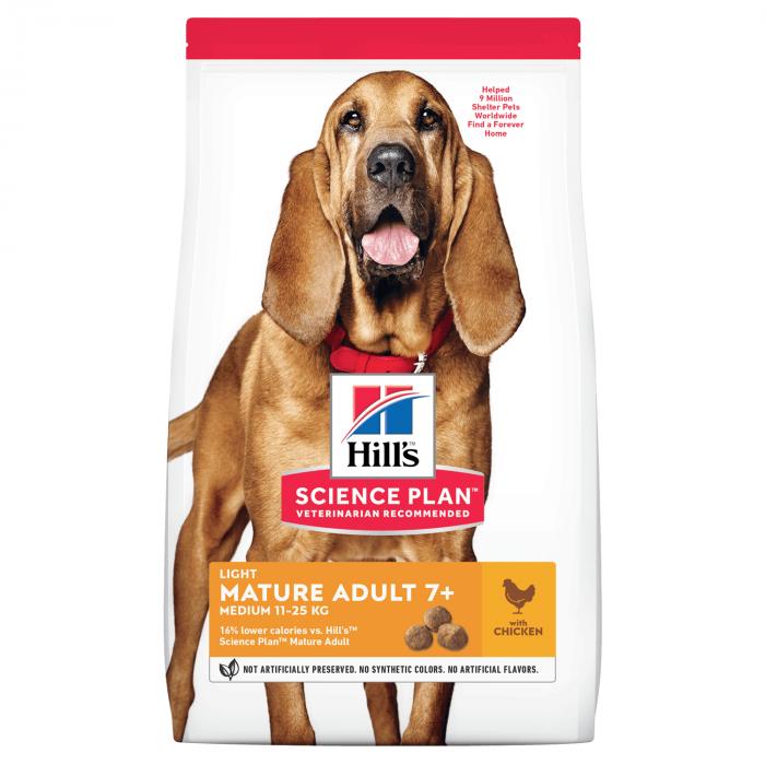 Hrana uscata pentru caini  Hills SPCanine Mature Adult 7+ Light cu Pui sac 14 kg 0