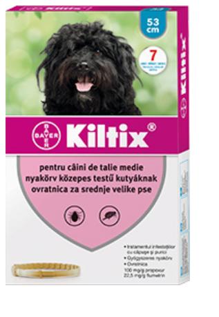 Zgardă antiparazitară pentru câini de talie medie (53 cm) - Kiltix 0