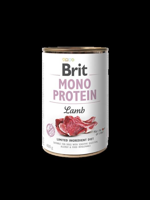Hrană umedă pentru câini Brit Mono Protein Miel 400g 0