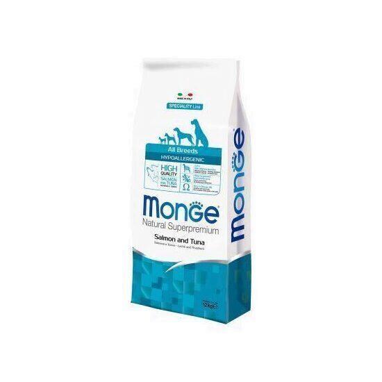 Hrana uscata dieta pentru caine Monge natural Hypoallergenic  Salmon/Tonno (SOMON, TON)  12KG 0