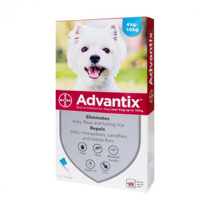 Advantix 100  ( 4-10 kg ) cutie cu 1 pipetă antipurici 0