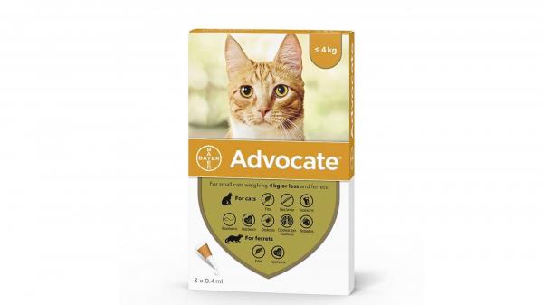 Deparazitare externa pisici, Advocate Cat 0-4 kg x 1 pipeta 0
