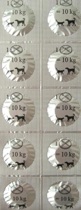 Tablete deparazitare internă pentru câini și pisici Biheldon 10 comprimate 1