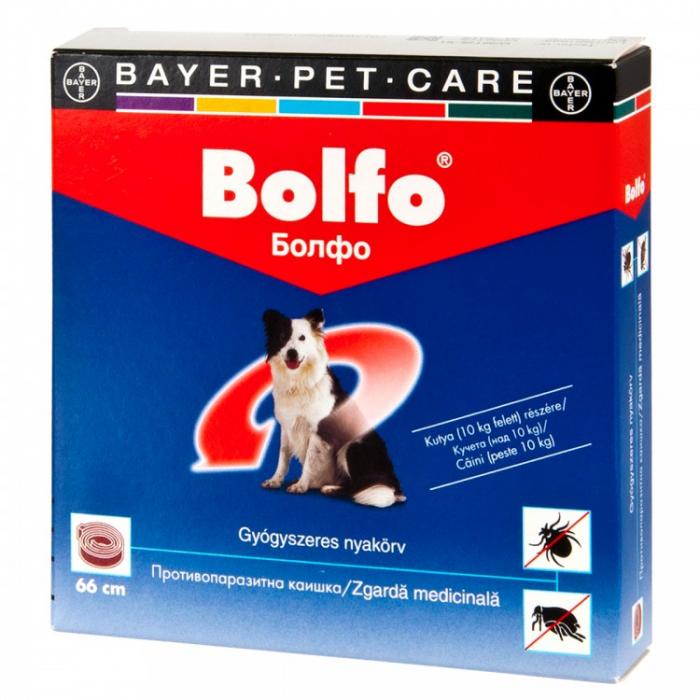 Bolfo - Zgardă Antideparazitară pentru câini peste 10 kg (66 cm) 0