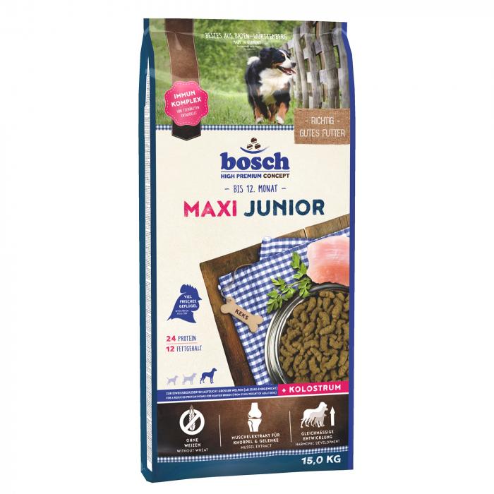 Hrana uscata pentru caini Bosch Maxi Junior 15 kg 0