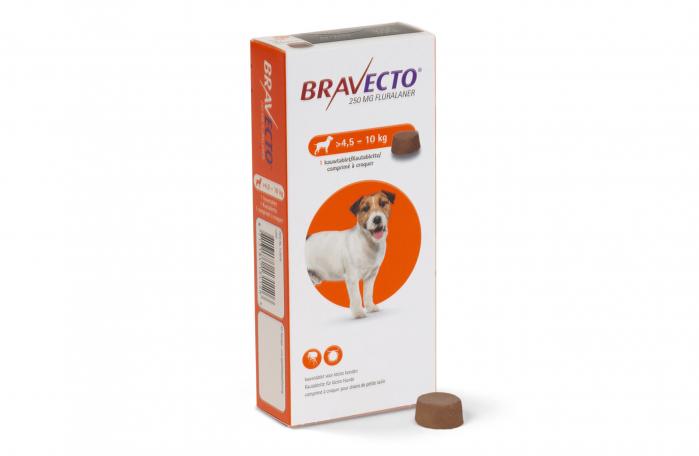 Bravecto - Comprimat pentru deparazitare externă câini - 4,5-10 kg 0