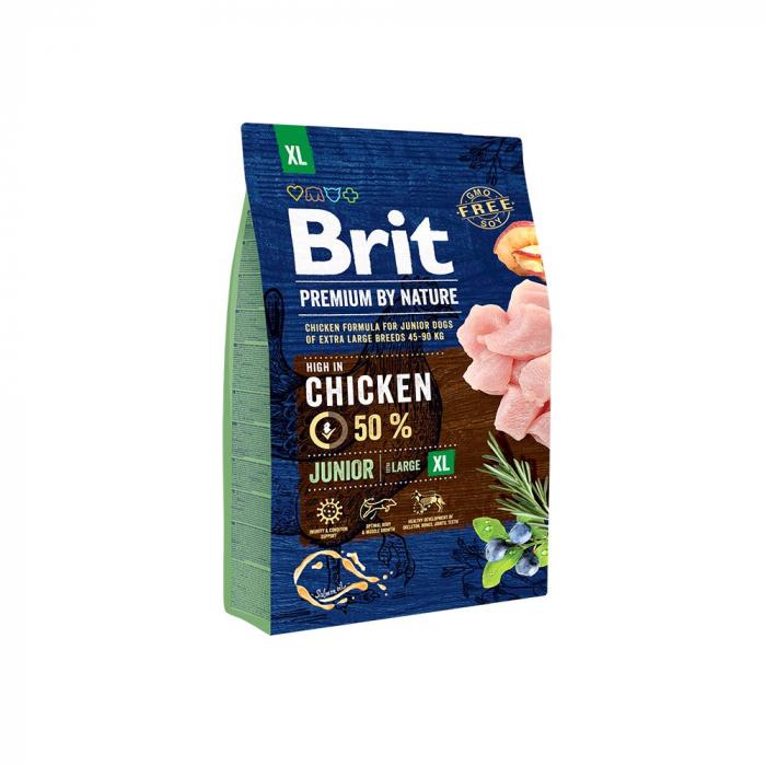 Hrana uscata caini Brit Premium Junior XL  3 Kg [0]