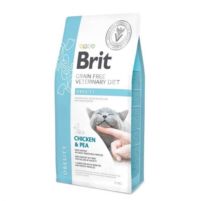 Hrana uscata dieta pentru pisici Brit Cat Obesity 2kg 0