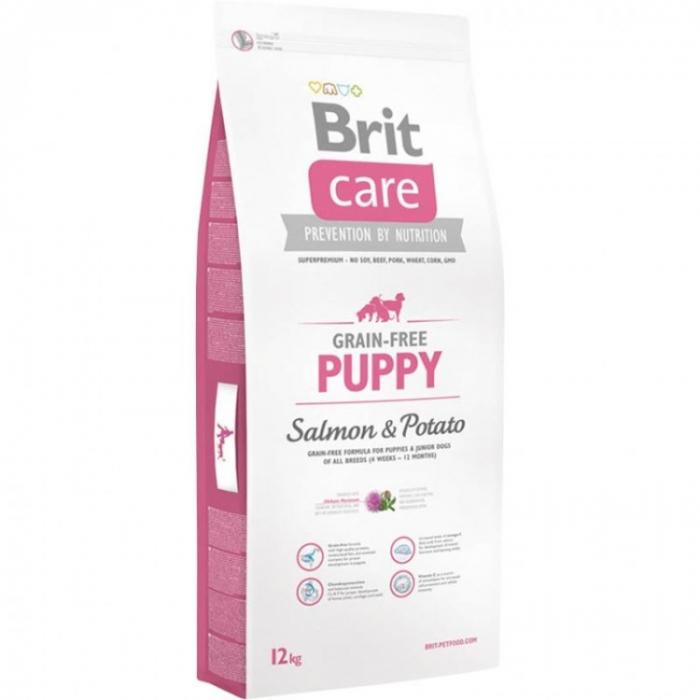 Hrana uscata pentru caini Brit Care  Grain-free  Puppy, Somon & Cartof 12Kg [0]