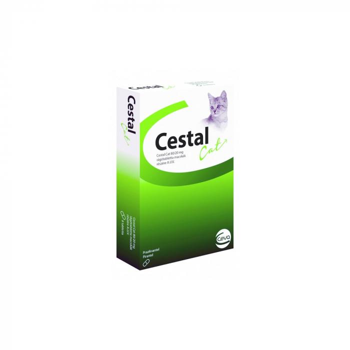 Tablete deparazitare internă pentru pisici Cestal Cat Chew 8 comprimate 0