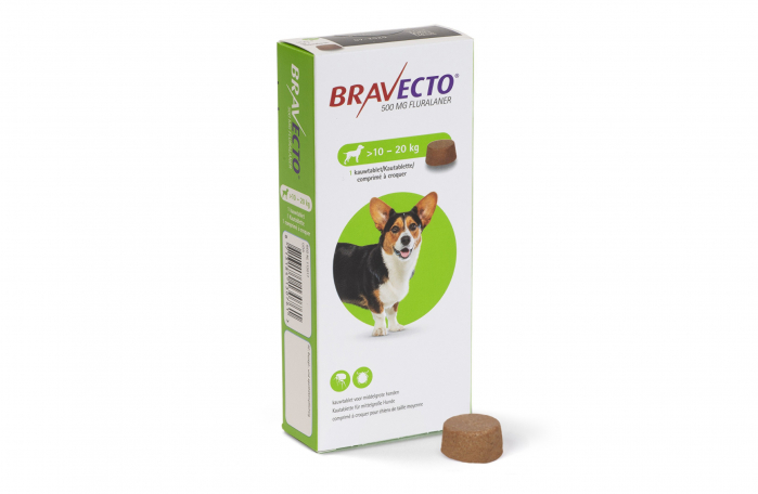 Comprimat deparazitare externă câini de 10 - 20 kg - Bravecto 0