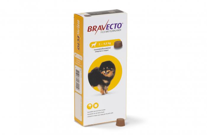 Comprimat deparazitare externă pentru câini - Bravecto 2-4,5 kg 0