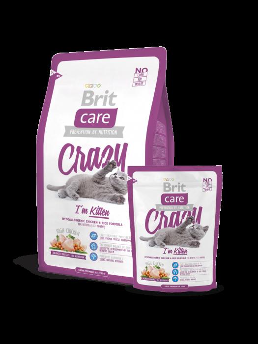 Hrană uscată pentru pisici Brit Care Crazy Kitten 7 kg [0]