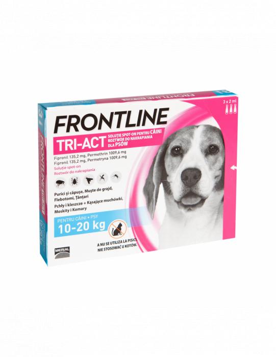 Deparazitare externa pentru caini Frontline Tri-Act M 10-20kg cutie cu 3 pipete [0]