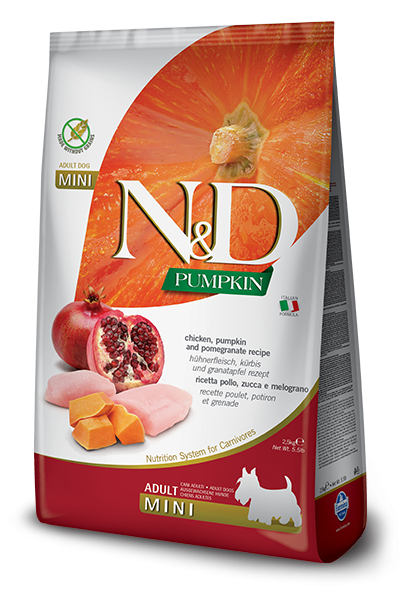 Farmina N&D Dog Adult Mini Grain Free Pumpkin Chicken and Pomegranate 7kg [0]