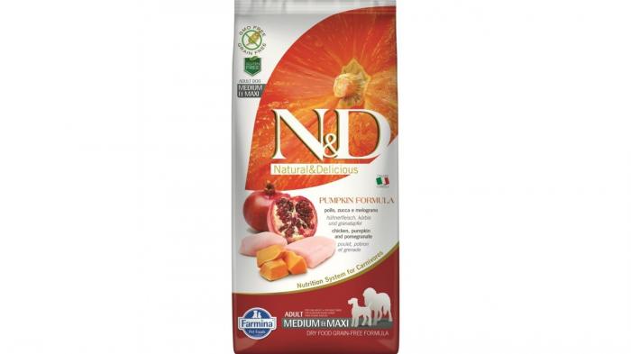 Farmina N&D Dog Grain Free Pumpkin Chicken and Pomegranate Adult Medium and Maxi 12kg 0