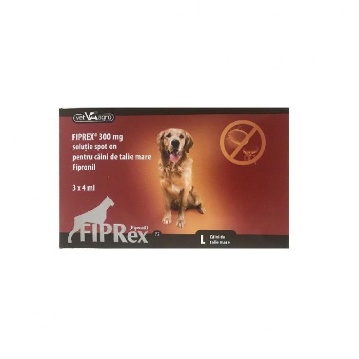 Deparazitare externa pentru caini  Fiprex L 20-40 kg Fipronil cutie cu 3 pipete 0