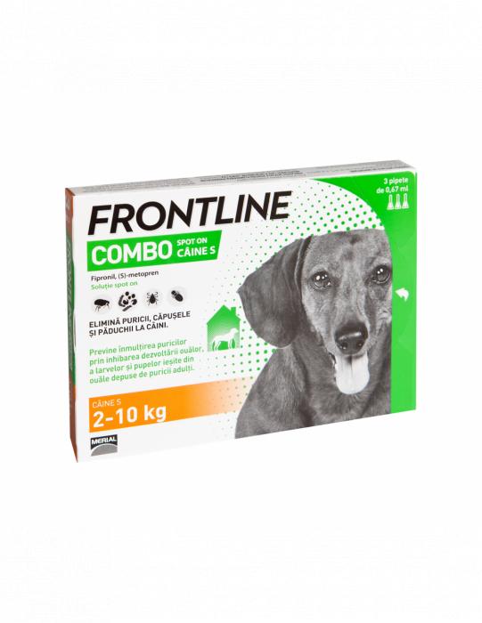 Deparazitare externa pentru caini Frontline Combo Dog S 2-10kg cutie cu 3 pipete [0]
