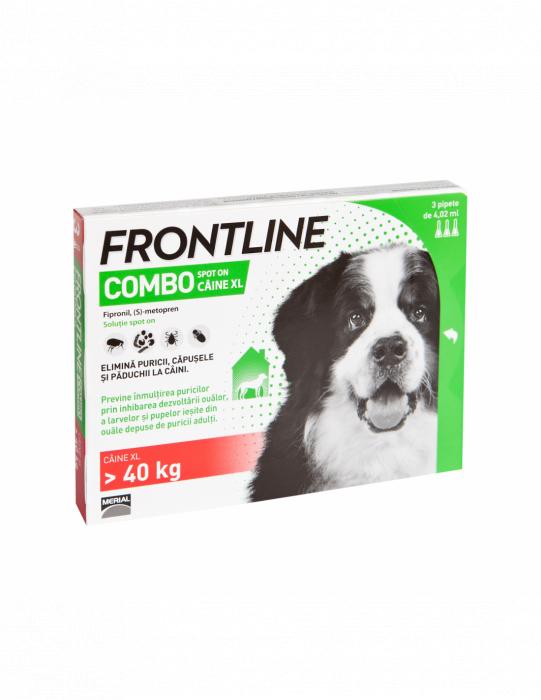 Deparazitare externa pentru caini Frontline Combo Dog xl 40-60kg cutie cu 3 pipete [0]