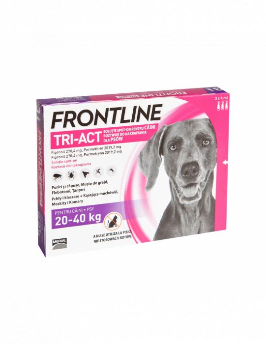 Deparazitare externa pentru caini Frontline Tri-Act L 20-40kg cutie cu 3 pipete 0