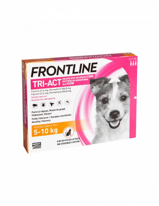 Deparazitare externa pentru caini Frontline Tri-Act S 5-10kg cutie cu 3 pipete [0]
