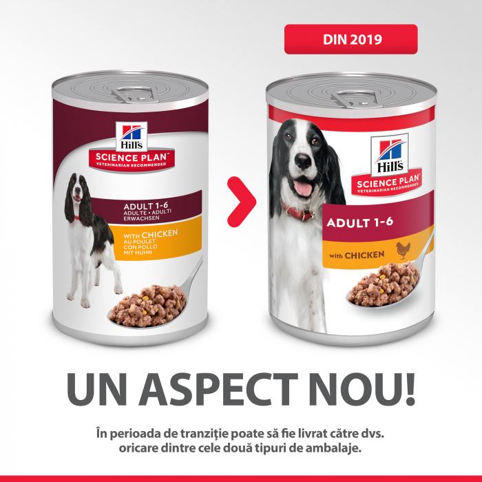 HILL'S SP ADULT  hrană pentru câini cu pui 370 g (conservă) 3