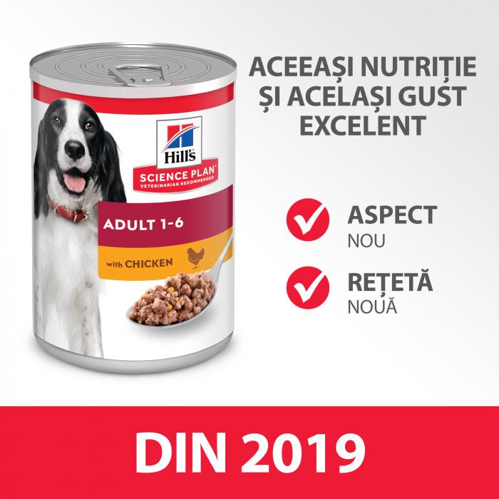 HILL'S SP ADULT  hrană pentru câini cu pui 370 g (conservă) 1