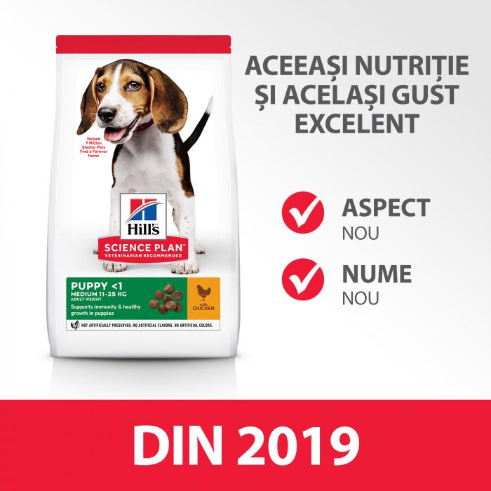 Hill's SP Puppy Medium hrana pentru caini cu pui 14 kg 2