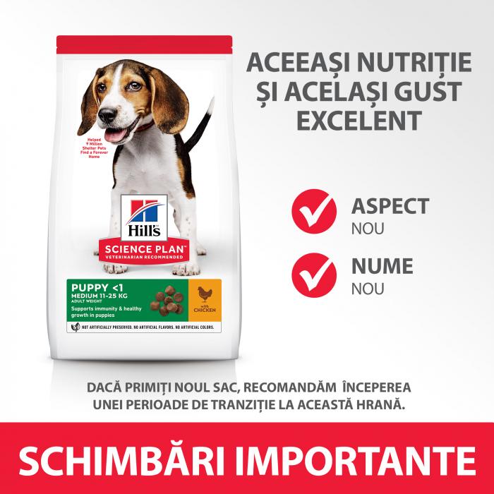 Hill's SP Puppy Medium hrana pentru caini cu pui 14 kg 5