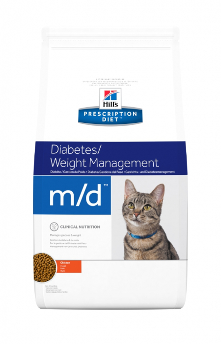 Hill's PD m/d Diabetes, Weight Management  hrana pentru pisici 5 kg 0