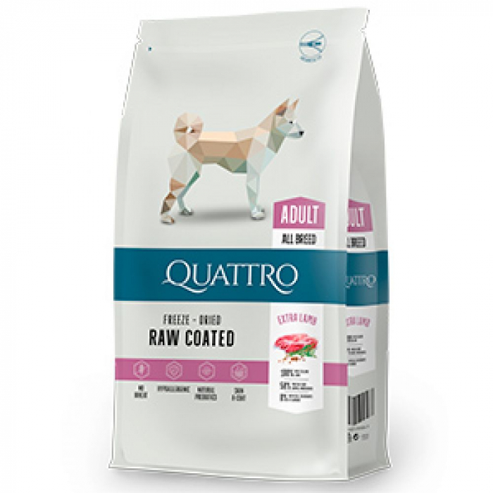 Hrana uscata pentru caini Quattro All Breed Extra Lamb 12kg 0
