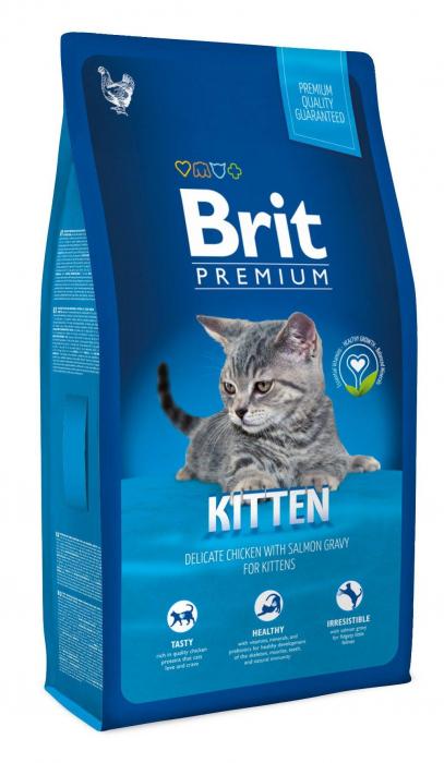 Hrana uscata pentru pisici Brit Premium Kitten 8kg [0]
