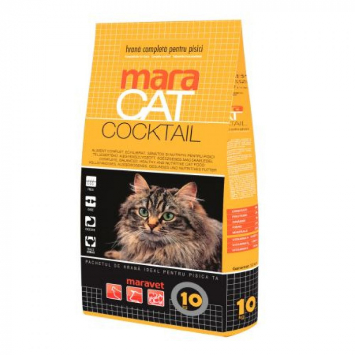 Hrana uscata pentru pisici, Maravet Maracat, Cocktail, 10Kg 0