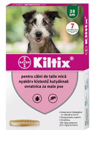 Zgardă antiparazitară pentru câini de talie mică (38 cm) - Kiltix 0