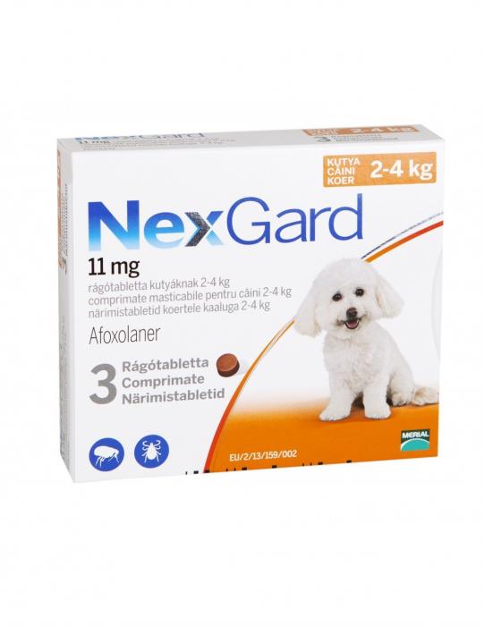 Deparazitare externă pentru câini - NexGard S cutie cu 3 comprimate masticabile 0