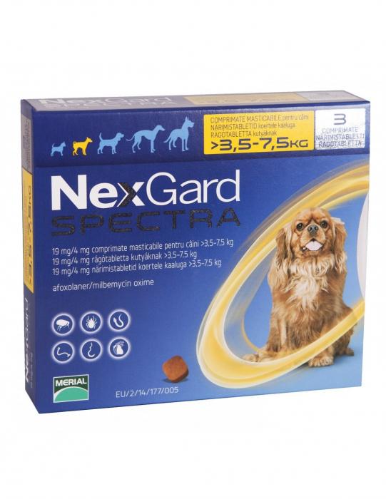Deparazitare externă pentru câini - NexGard Spectra S cutie cu 3 comprimate masticabile 0