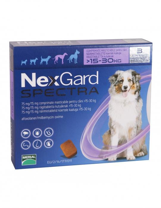 Deparazitare externă pentru câini - NexGard Spectra L cutie cu 3 comprimate masticabile 0