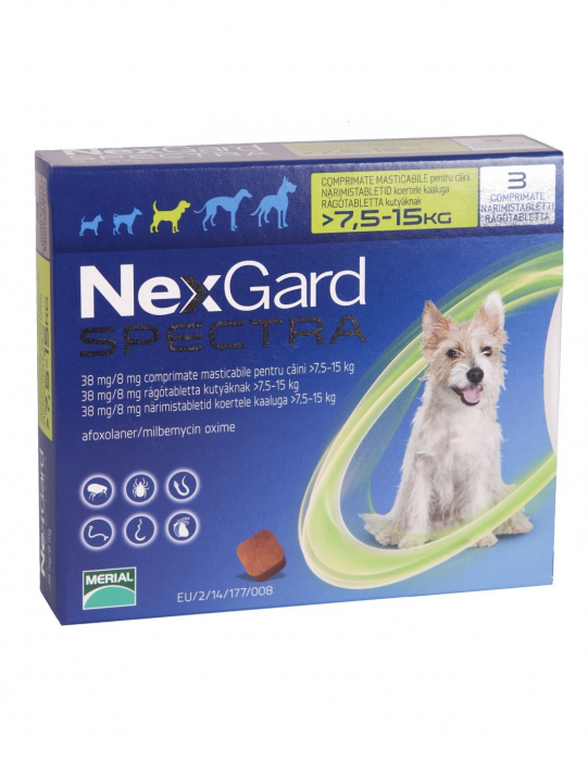 Deparazitare externă pentru câini - NexGard Spectra M cutie cu 3 comprimate masticabile [0]