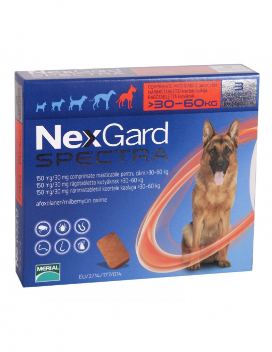 Deparazitare externă pentru câini - Nexgard Spectra XL cutie cu 3 comprimate masticabile 0