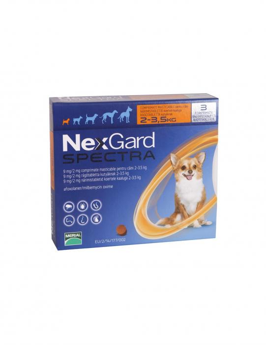 Deparazitare externă pentru câini - Nexgard Spectra XS cutie cu 3 comprimate masticabile 0