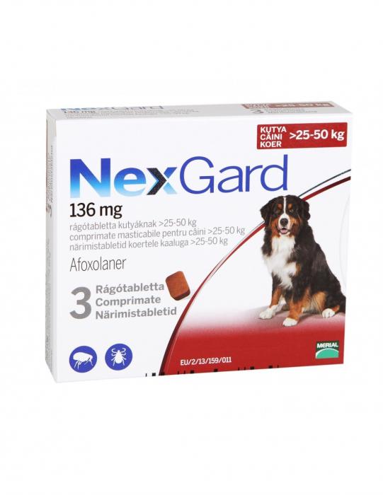 Deparazitare externă pentru câini - Nexgard XL cutie cu 3 comprimate masticabile [0]