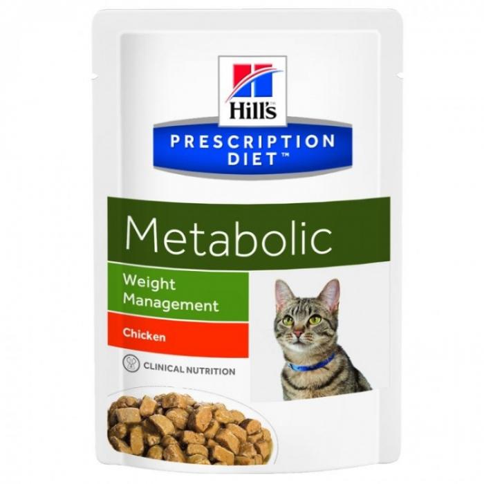 Hrana umeda pentru pisici Hills PD Feline Metabolic plic 85g 0