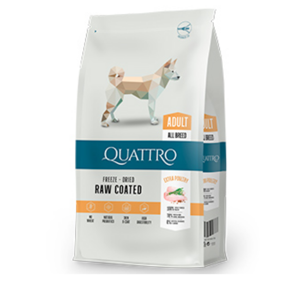 Hrana uscata pentru caini Quattro Large Breed Extra Poultry 12kg 0