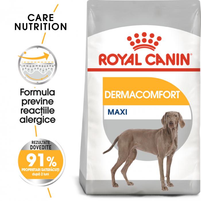 Royal Canin Maxi Dermacomfort hrana uscata caine pentru prevenirea iritatiilor pielii, 3 kg 0