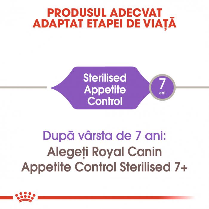 Royal Canin Sterilised Apetite Control Adult hrana uscata pisica sterilizata pentru reglarea apetitului, 400 g 1