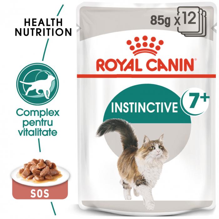 Royal Canin Instinctive 7+ hrana umeda in aspic pentru pisica senior, 12 x 85 g 0